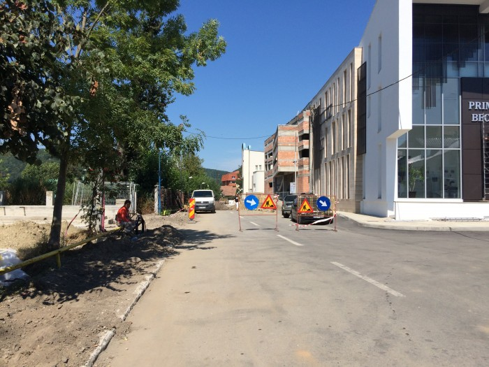 Stradă ÎNCHISĂ temporar la Beclean, pentru lucrări la rețeaua de alimentare cu gaz