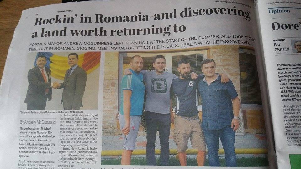 EXCLUSIV. Becleanul, lăudat într-un editorial al unui ziar cunoscut din Irlanda. Cum a ajuns orașul de pe Someș în presa străină