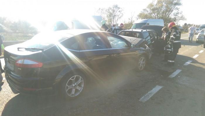 ACCIDENT la Șintereag! Patru mașini s-au ciocnit, iar zece persoane au fost IMPLICATE – GALERIE FOTO