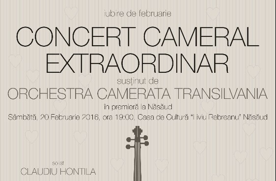 Orchestra CAMERATA TRANSILVANIA, în premieră Năsăud! Intrarea la concertul extraordinar este liberă