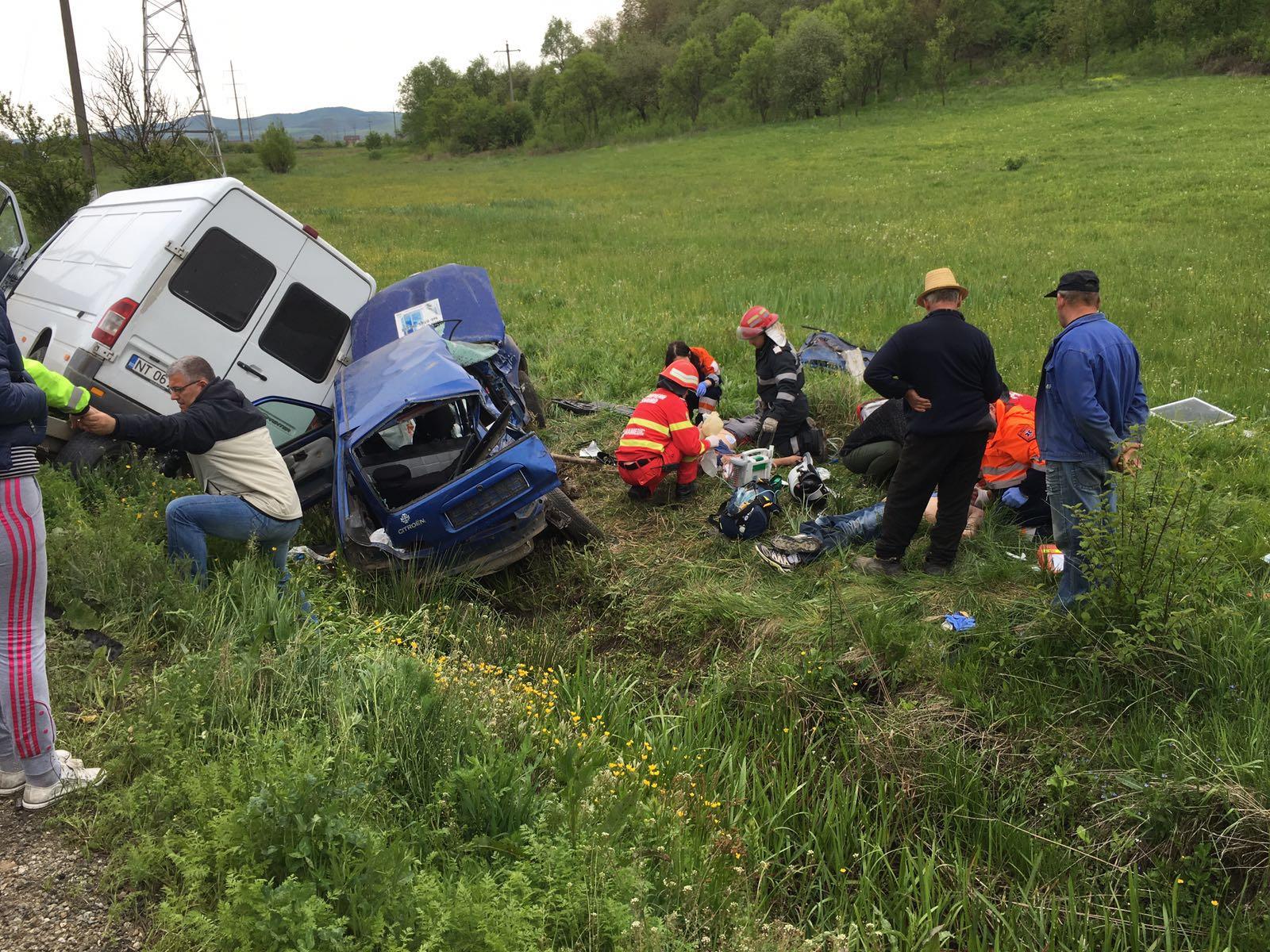 Accident TERIBIL în Șieu Odorhei! Doi bărbați AU MURIT în urma impactului puternic – FOTO&UPDATE