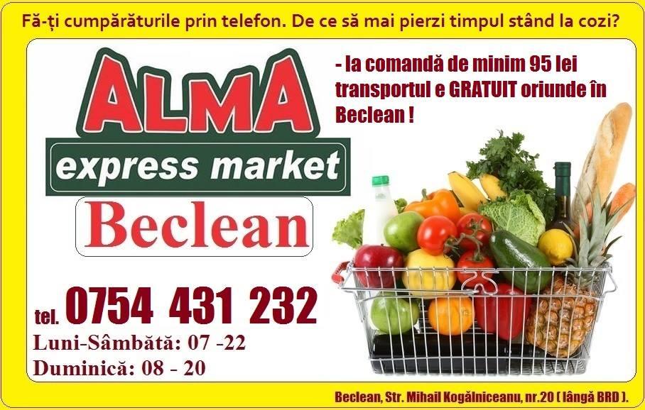 Alma Beclean, singurul supermarket din oraș care îți poate face cumpărăturile la distanță, iar apoi ți le trimite acasă – FOTO