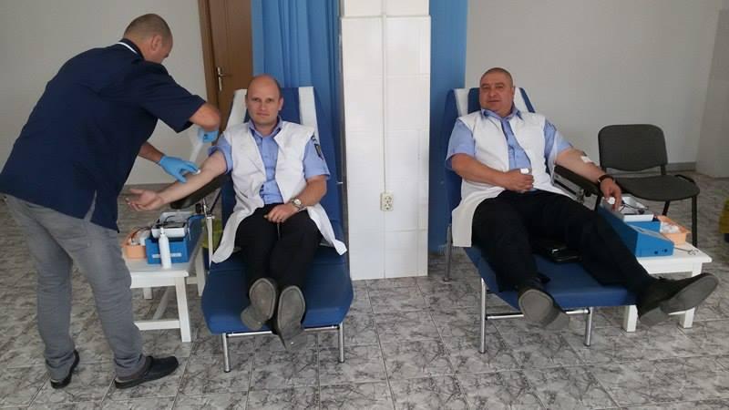 Jandarmii bistrițeni au donat sânge! Totul, pentru o cauză nobilă