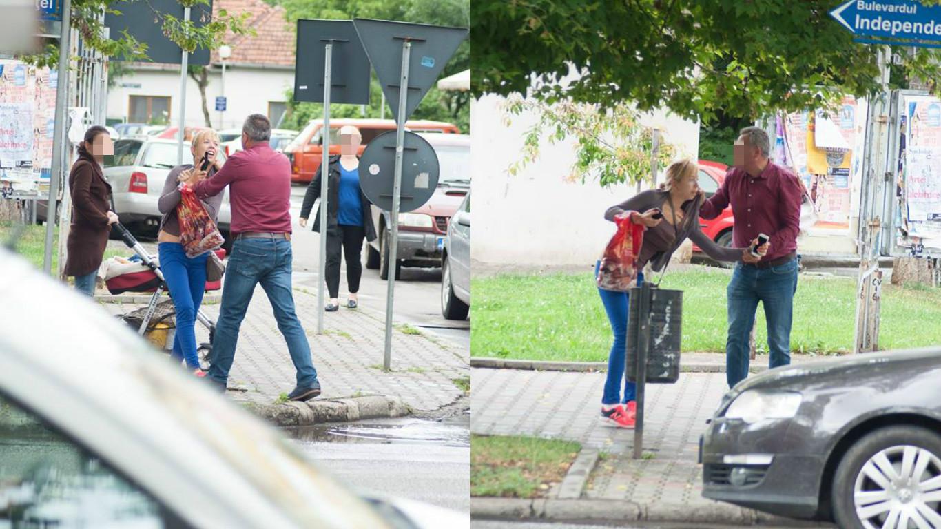Scene de COȘMAR la Bistrița! Un politician ar fi agresat o femeie în plină stradă – GALERIE FOTO