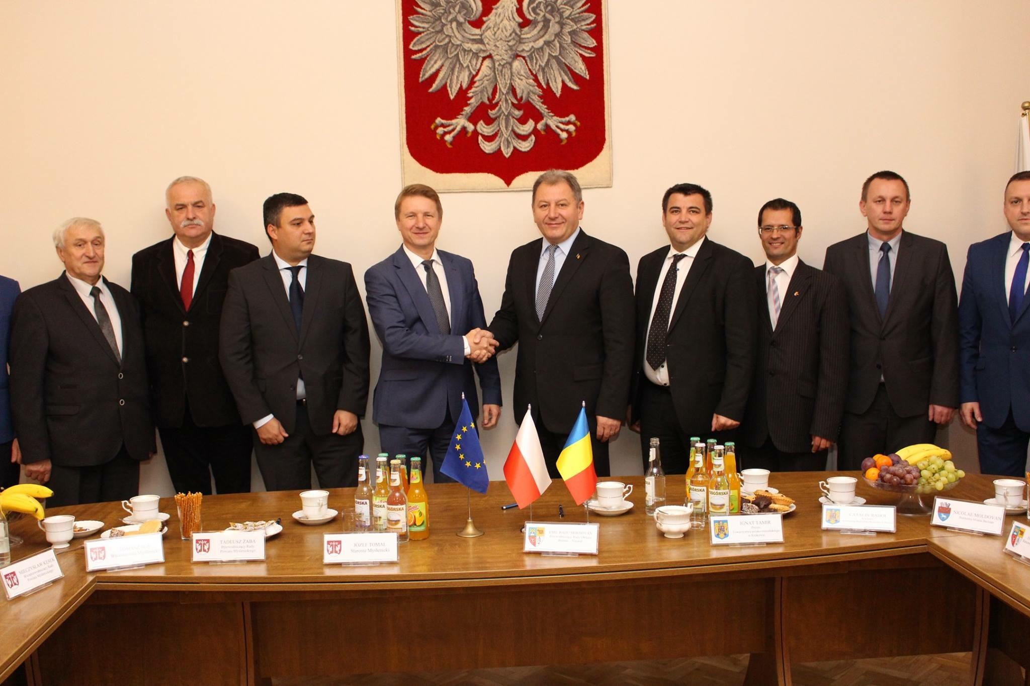 Becleanul, exemplu pentru județ! Bistrița-Năsăud s-a înfrățit cu una dintre cele mai dezvoltate regiuni din Polonia – FOTO
