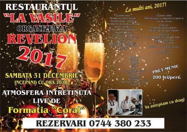 """Revelion 2017, """"La Vasile""""! Cum veți putea petrece cumpăna dintre ani la cel mai nou restaurant din oraș"""