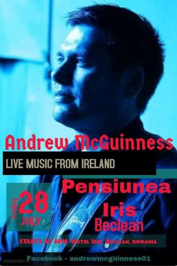 Irlandezul Andrew McGuinness va susține un concert special pentru beclenari!