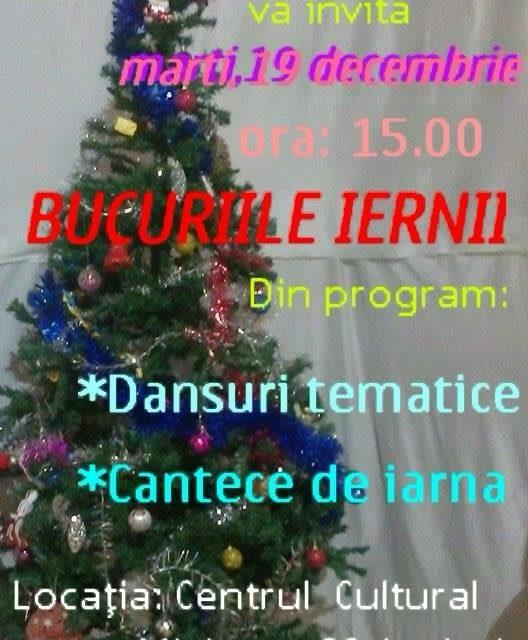"""Clubul Copiilor Beclean organizează în săptămâna dinaintea Crăciunului un spectacol tematic numit """"Bucuriile iernii"""""""