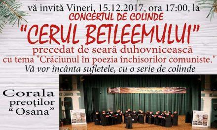 """Concert extraordinar de colinde la Biserica din Oșteze! Corala preoților """"Osana"""" va încânta pe toată lumea"""