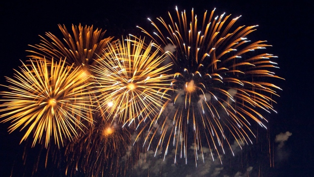 Revelionul 2018, sărbătorit cu focuri de artificii în centrul orașului Beclean. Ce mesaj le-a transmis primarul Nicolae Moldovan tuturor beclenarilor