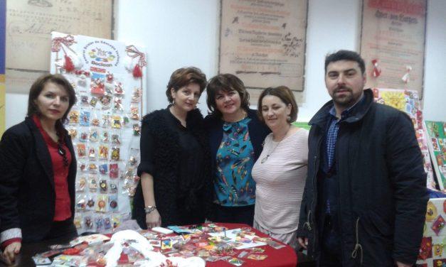 Mărțișoarele create de elevii de la CSEI Beclean, prezentate la Bistrița în cadrul unui târg dedicat sosirii primăverii