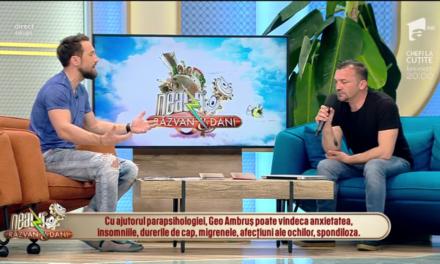 """Beclenarul Geo Ambruș, invitat la """"Neatza cu Răzvan și Dani"""". Cum a comentat prezentatorul Dani unul dintre videoclipurile artistului din Beclean – VIDEO"""