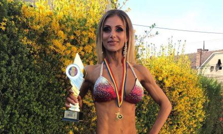 Alexandra Săsărman din Beclean a câștigat locul I la prima sa participare la un concurs național de culturism și fitness – FOTO