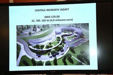 Este oficial. A fost semnat contractul de finanțare pentru Centrul Recreativ Legacy cu amenajări exterioare, împrejmuire, racorduri și branșamente la utilități, amenajări de cai de acces și drumul de legătura cu DJ172. Când va fi gata proiectul