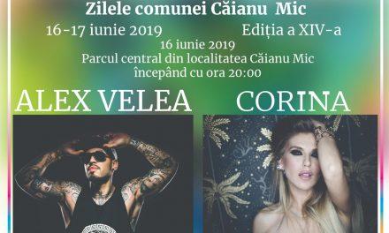 Alex Velea, Corina și numeroși alți artiști, invitați la Zilele Comunei Căianu Mic! Iată tot desfășurătorul evenimentului – FOTO
