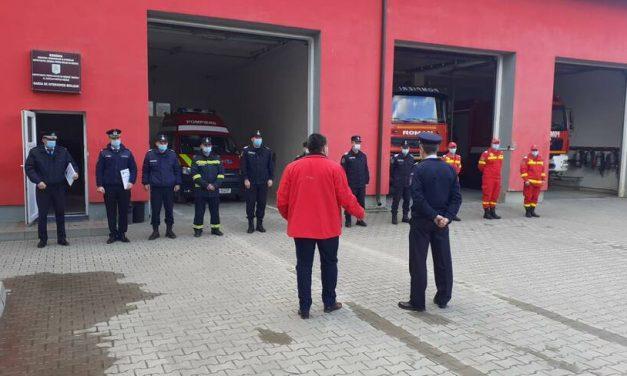 Unitatea de pompieri salvatori din Beclean a împlinit două decenii! Aniversarea a fost marcată printr-un moment festiv